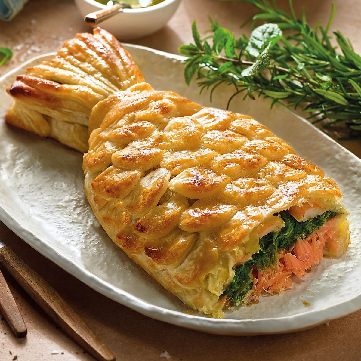 coulibiac pastel de salmón
