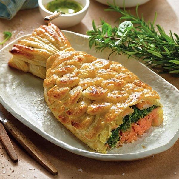 Pastel de salmón (coulibiac)