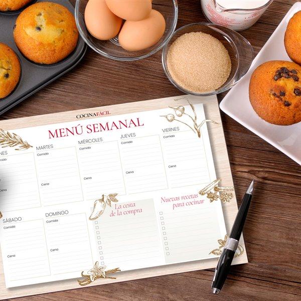 Planifica tus menús de cada día con nuestra plantilla