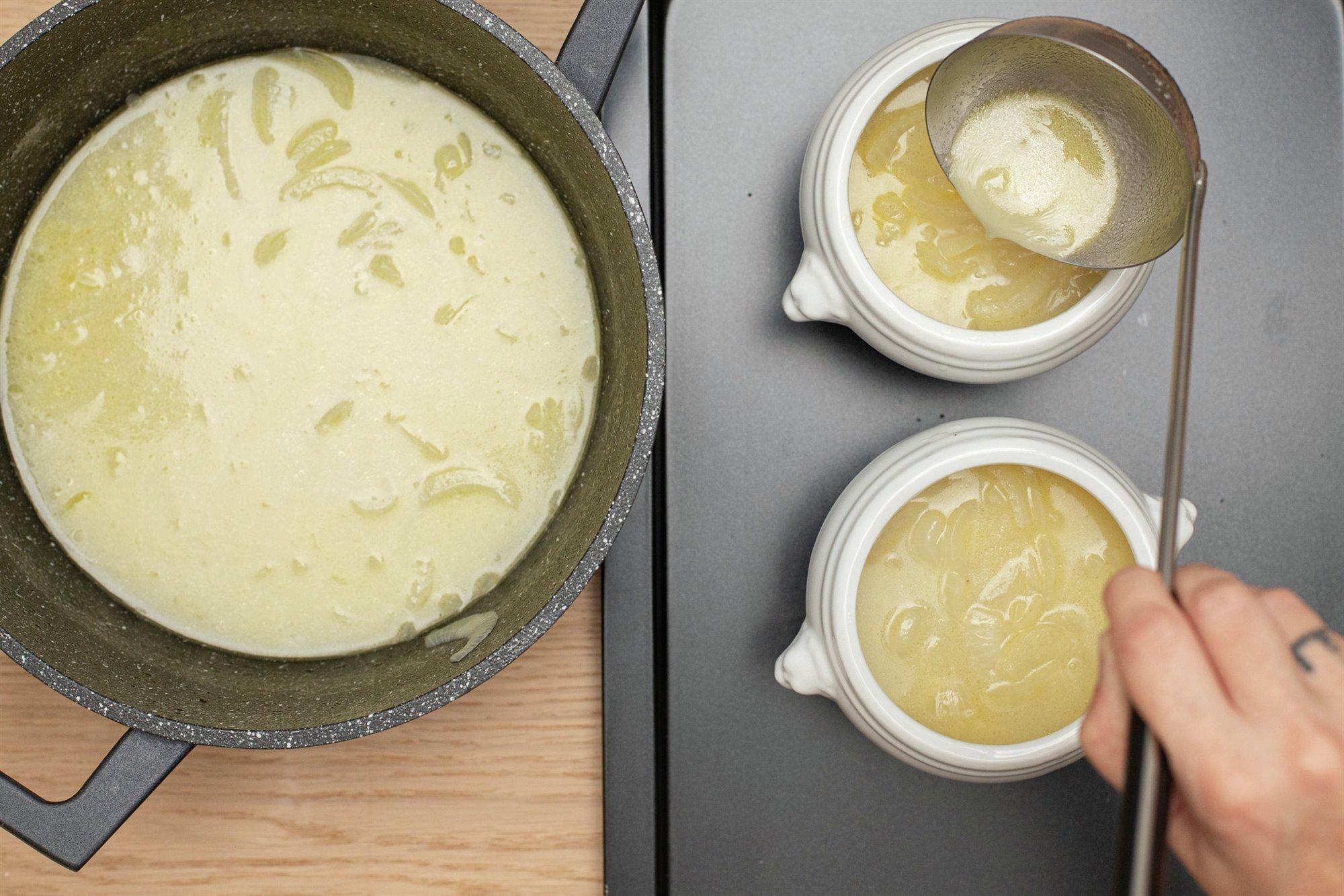 5. Hornea la sopa